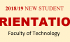 Student Orientation Programme 2018/19 – Faculty of Technology