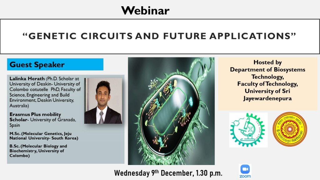 Webinar: Genetic circuits and future applications